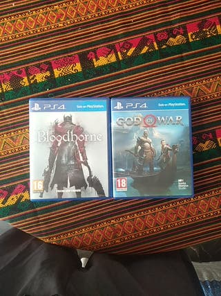 Bloodborne y god of war PS4