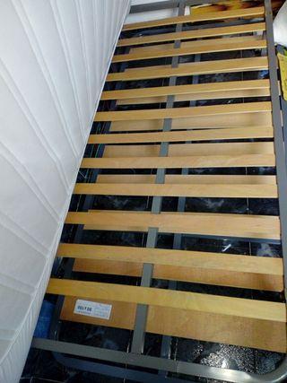 somier laminas madera patas plegables 90x190cm