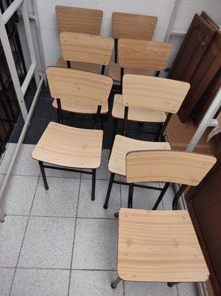 Sillas colegio haya clara formica