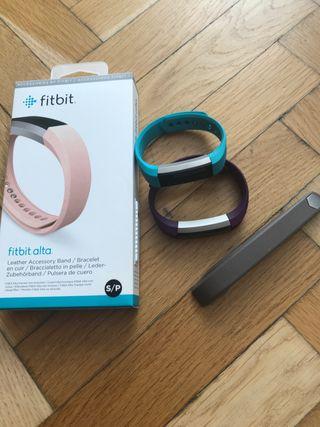 2 pulseras de actividad Fitbit Alta + 2 correas