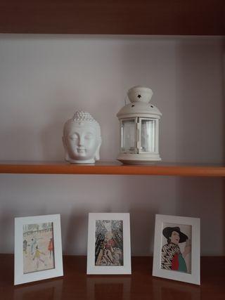 Ser de decoración: marcos + candelabro + farol