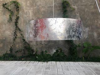 Lámpara grande gris plata