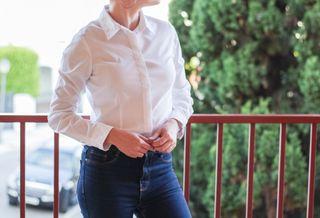 Camisa blusa Kiabi mujer blanca elegante