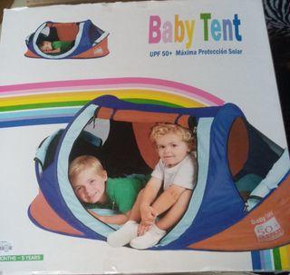tienda campaña bebe-niño