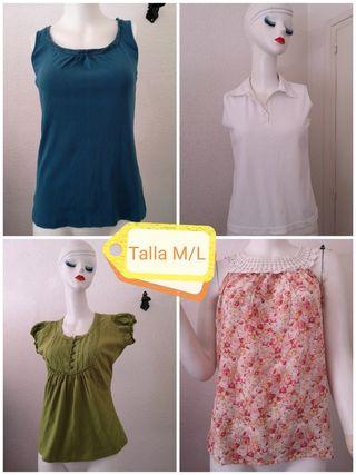 Cuatro camisetas Talla M