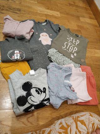 ropa bebe niña talla 12-18