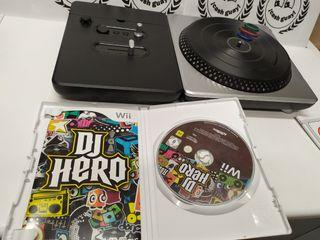 mesa mezclas DJ hero + Juego wii