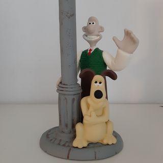 Wallace y Gromit Figura De Resina Porta vela