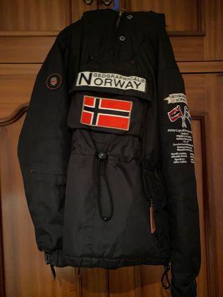 Abrigo Geografical Norway color negro