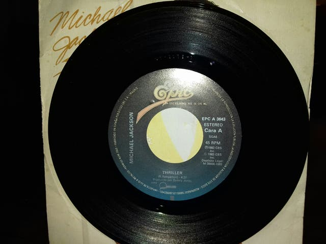 "DISCO VINILO MICHAEL JACKSON SINGLE 7"",THRILLER."