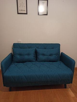 Sofá cama Home azul - Conforama