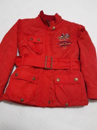 Abrigo niña rojo Valecuatro talla 6