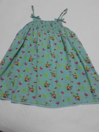 Vestido niña flamencos talla 5- 6 años