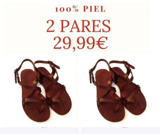 2 x 29,99€ Sandalias Piel ¡ENVÍO GRATIS!