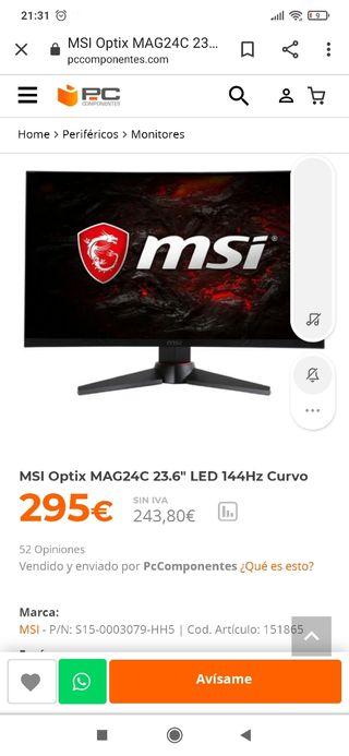 """pantalla MSI Optix MAG24c 23.6"""""""