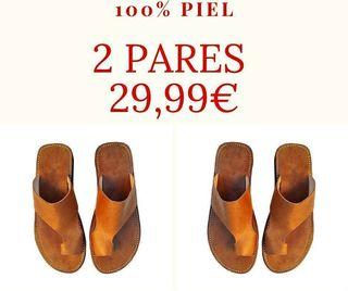 2 x 29.99€ Sandalias 100% Piel UNISEX ¡ENVÍO GRATI