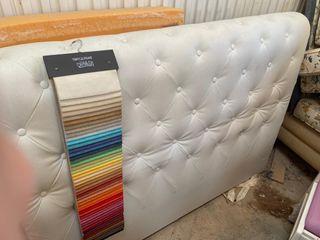 Cabecero tapizado luxe en terciopelo nacional