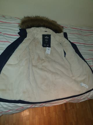 abrigo hollister perfecto estado