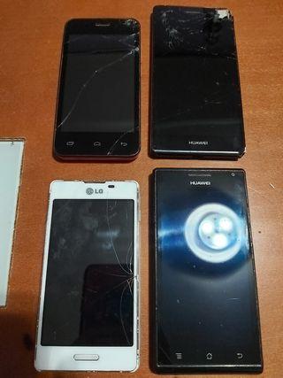 4 telefonos para piezas