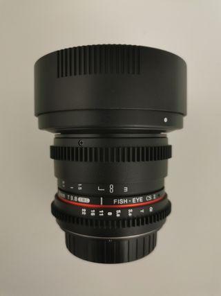 Samyang 8 mm T3.8 Objetivo para Canon