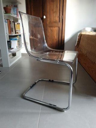 silla Tobias Ikea transparente
