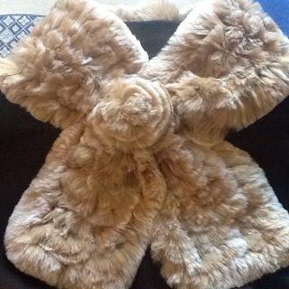 Bufanda / cuello piel de pelo