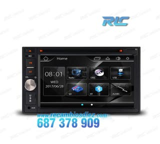 "RADIO 2DIN PANTALLA DE 6,2"" HD TÁCTIL BLUETOOTH US"