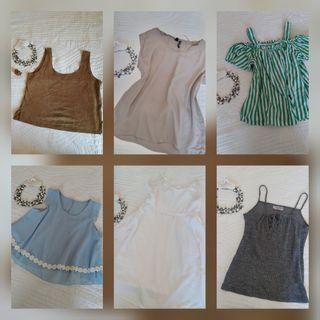 Lote 5 Blusas y 1 Vestido