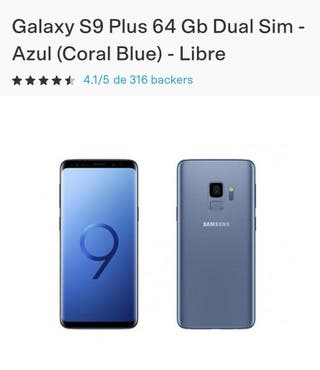 SAMSUNG S9 PLUS CORAL BLUE