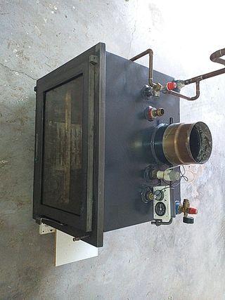 hidroestufa de leña con kit de seguridad