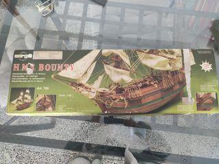 maqueta barco h. ms bounty