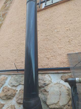 tubos chimenea 120mm de diámetro codo y capuchón.