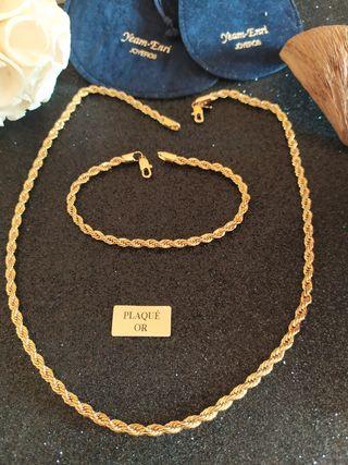 Cadena y cordón laminado oro