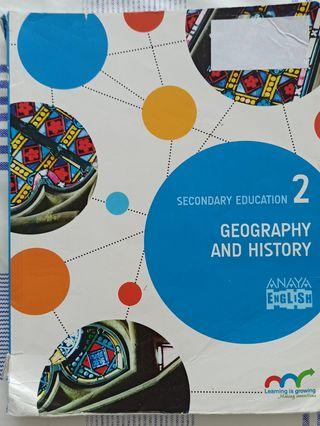 Libro de texto geografhy and history 2°eso