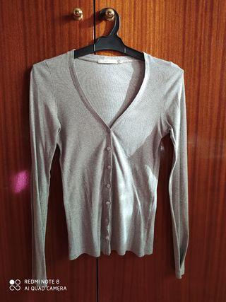 Jersey chaqueta gris de lana fina Women'secret