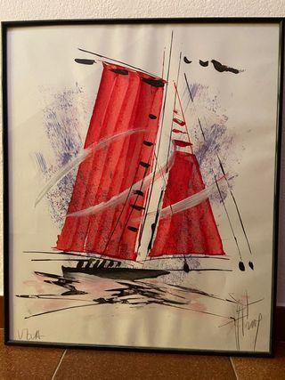 Cuadro barco velero