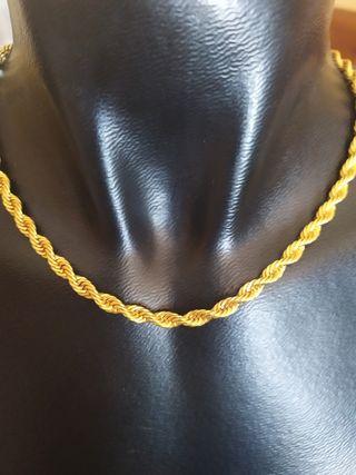 Cordón ancho laminado oro 18 kt