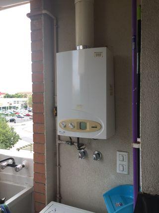 Calentador de agua con gaz