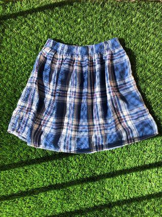 Falda cuadrados azules