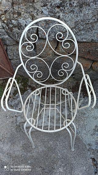 Juego de 2 sillas de metal ideal jardín