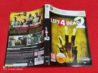 CARATULA LEFT 4 DEAD 2 XBOX 360