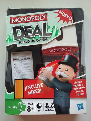Monopoly Deal. Juego de cartas.