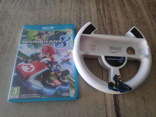 Mario kart 8 + volante wiiu