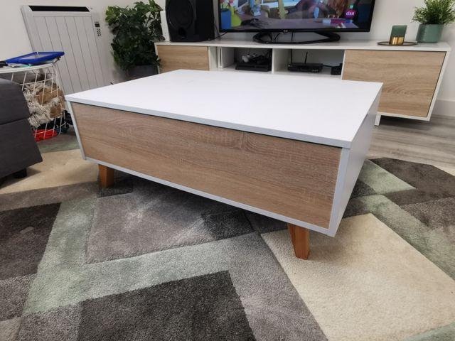 mesa de centro estilo nórdico