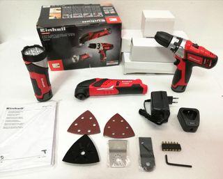 Pack herramientas a batería Einhell TE-TK 12li