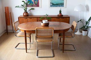 Mesa de comedor ovalada extensible G plan