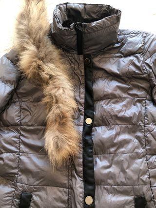 Abrigo plumas pelo