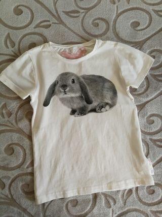 camiseta niña conejo Hym NUEVA