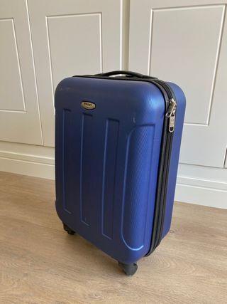 Maleta trolley azul rígida