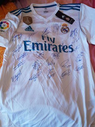 REAL MADRID Camiseta Liga firmas Talla M